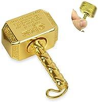 Xstar Mini Realistic Golden Thor's Hammer Snitch Fidget Spinner Hand Finger Spinner Focus Copper Stainless Steel Metal Fingertip Gyro Stress Relief Fun Toy Best Gift for Kids Adults Friends(Golden)