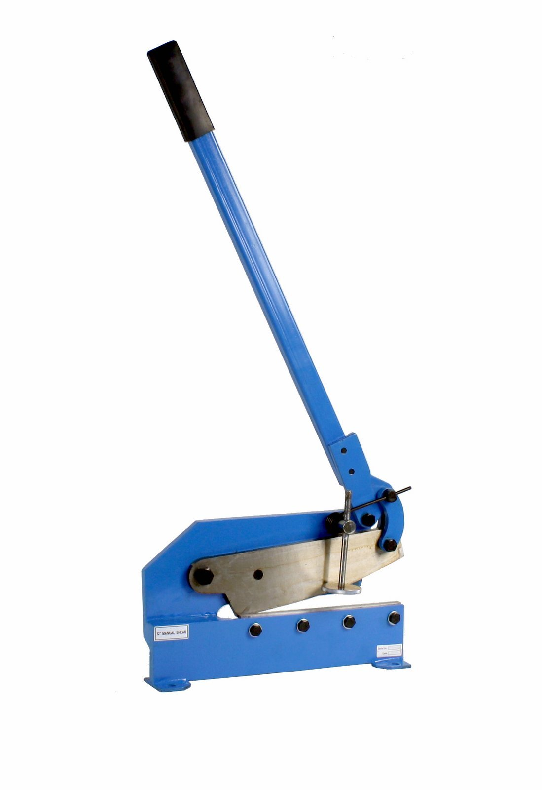 Erie Tools 12'' Mounting Benchtop Manual Hand Plate Shear Cuts Sheet Metal, Rebar, and Round Stock Cutter