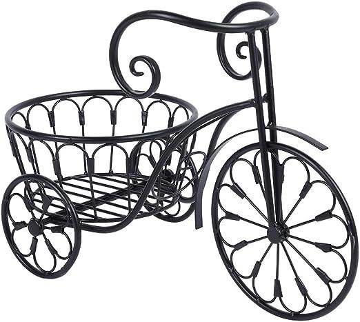 GOTOTOP Soporte de Planta de Hierro Forma de Bicicleta Estantería ...