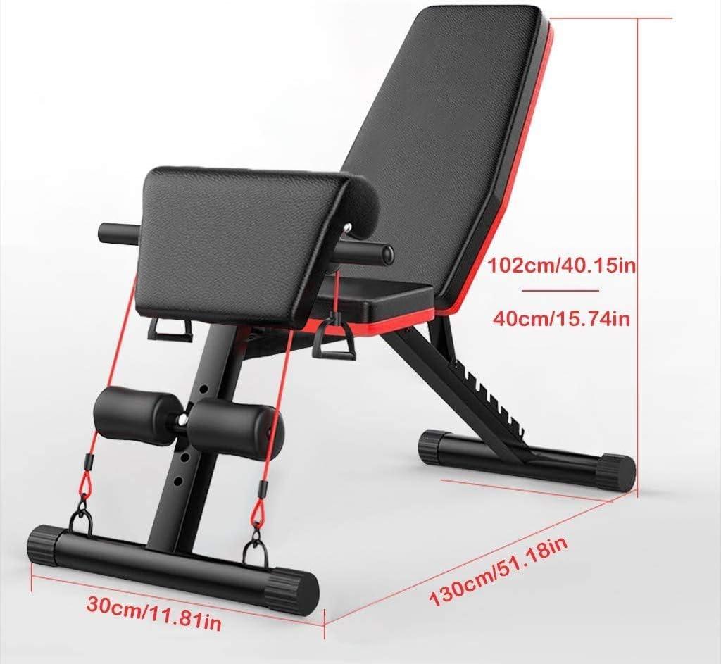 NTWXY Banc dexercice Pliable Aptitude Banc Dentra/înement Flat Fly Weight Press Fitness Multi-But Halt/ère Banc De Musculation