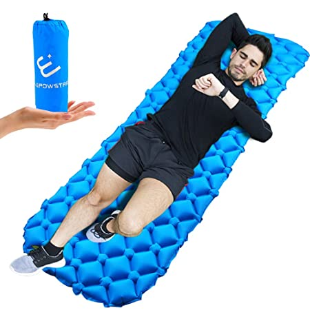 Aufblasbare luftmatratze, ELEPOWSTAR Sleeping Pad, Aufblasbare Ultraleichte Isomatte Schlafmatte, wasserdichte Luftmatte für
