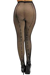 89778944c05ad Amazon.com: Adult Single Use Footed Fishnet Tights with Rhinestone ...