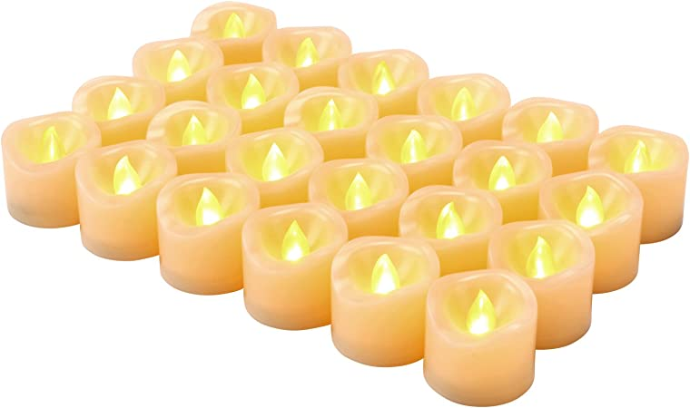 Flameless Flickering LED Candles Tea Light Battery Operated Fit Valentines Day