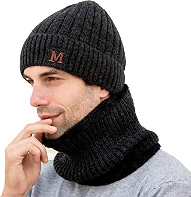 JimHappy Just Gonna Send It Winter Warm Hats,Knit Slouchy Thick Skull Cap Black