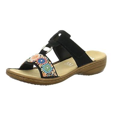 Rieker Pantoletten 42: : Schuhe & Handtaschen