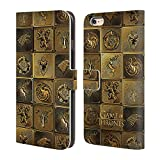 Official HBO Game Of Thrones All Houses Golden Sigils Leather Book Wallet Case Cover For Apple iPhone 6 Plus / 6s Plus