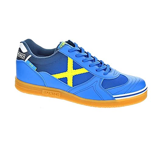 Zapatilla Fãºtbol Sala Junior Munich G3 Azul: Amazon.es: Zapatos y complementos