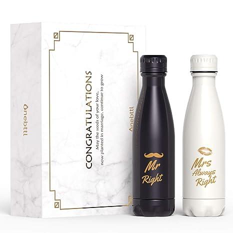 Amazon.com: Regalos de boda únicos para pareja, botella de ...