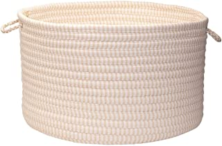 product image for Colonial Mills Solid Ticking Storage Basket, 18 by 12-Inch, Canvas
