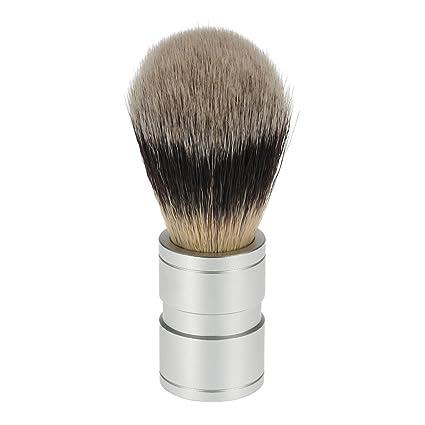 ROSENICE Cepillo de afeitar para hombres con kit de herramientas de limpieza con mango de metal
