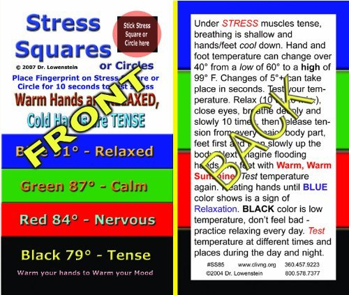 Stress Square Instruction Card---Stress Square not included ()
