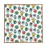 Deny Designs Zoe Wodarz, Summer Days Cactus, Framed Wall Art, Large, 30'' x 30''