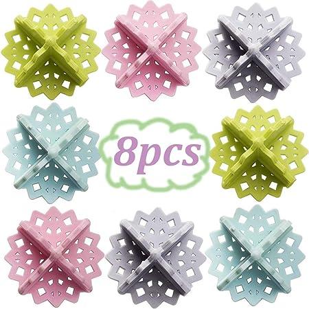 Color mezclado GUOYIHUA Bolas secadoras para la colada 5# pl/ástico 10 unidades