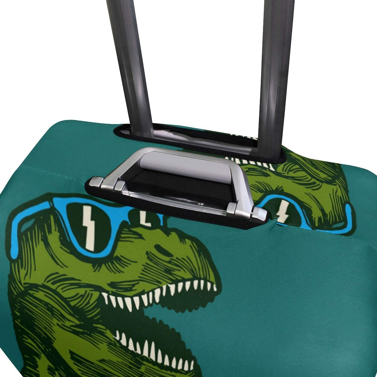 FOLPPLY Cute Cartoon Dinosaur Luggage Cover Baggage Suitcase Travel Protector Fit for 18-32 Inch