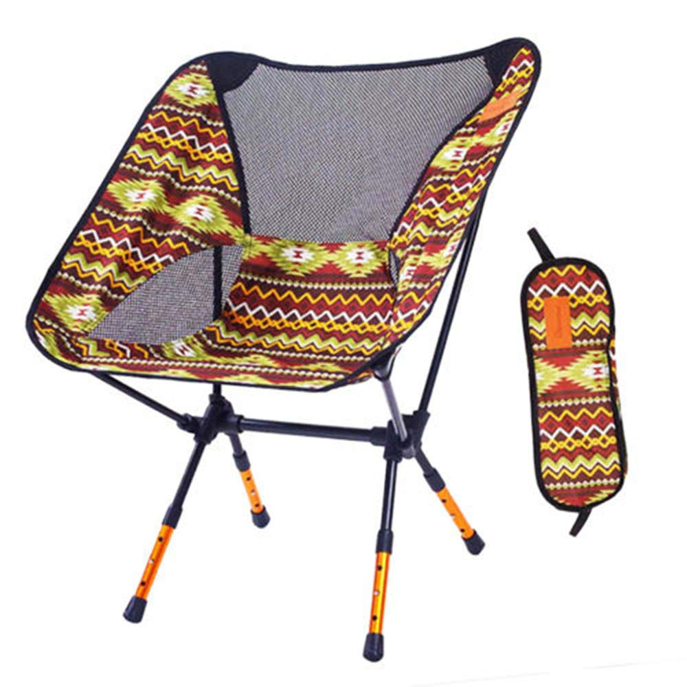 Outdoor Folding Chair Ultra-Light Portable Collapsible Fishing Walking Barbecue Travel Rest Stool Art Sketch Beach Back Bench Brown