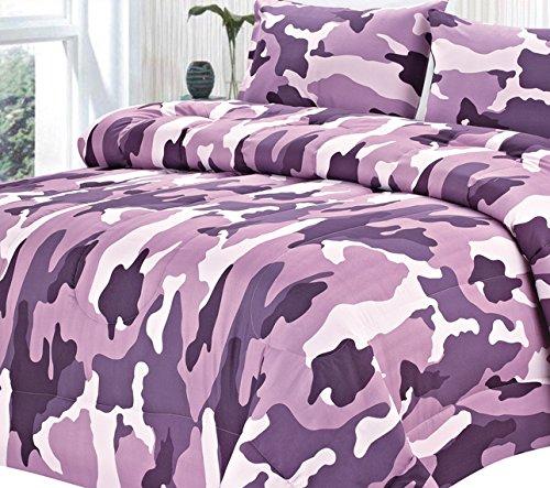 Clara Clark Colored Camouflage Goose Down Alternative Dou...