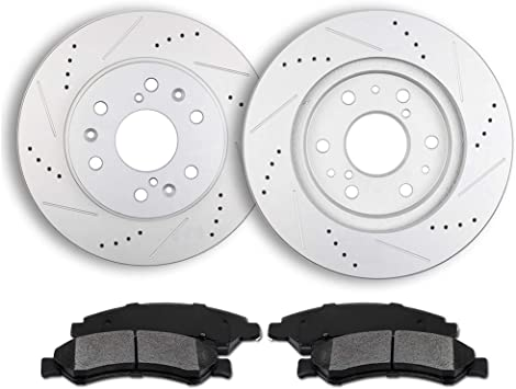 Front Ceramic Discs Brake Pads For 2005-2006 Chevy Silverado 1500 ATD1092C
