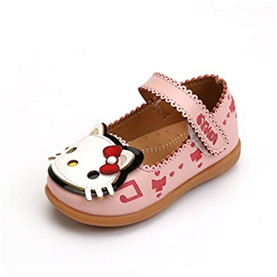 d2c32b36ef7 Amazon.com   Reedbler Children Shoes Girls Flats Hello Kitty Baby Shoes PU  Leather Little Kids Shoes for Girl Soft Toddler Girls Shoes   Athletic