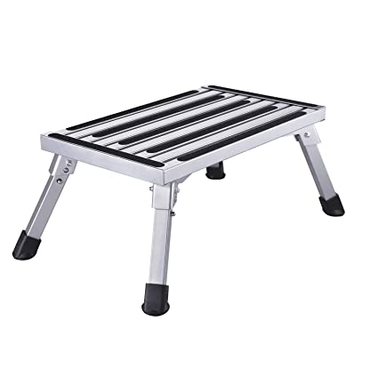 Amazon com: Work Platform Aluminum Step Ladder, Portable