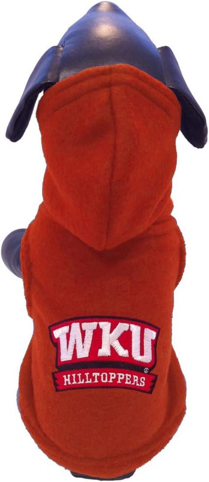 NCAA Western Kentucky Hilltoppers Polar Fleece Hooded Dog Jacket XX-Small