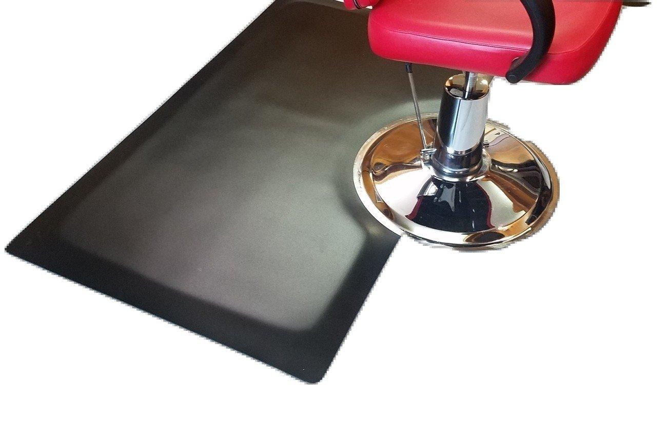 Rhino Mats XFS-3660R Xtra-Flex Foam Salon Rectangle Mat, 3' Width x 5' Length x 7/8'' Thickness, Black