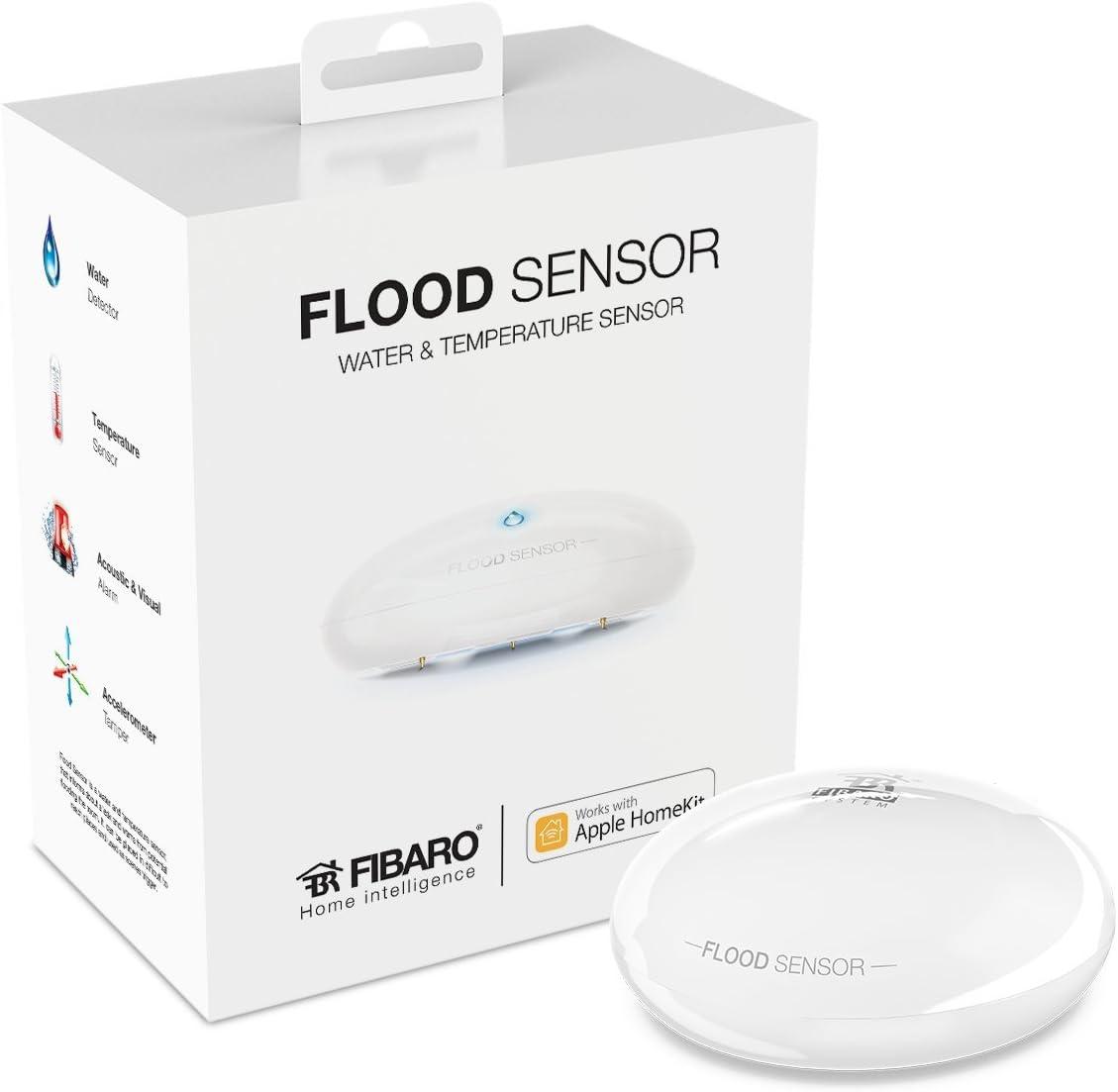 Water /& Temperature Sensor For Homekit Only New  Fibaro Homekit Flood Sensor