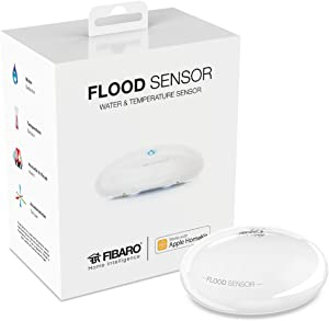 Fibaro HomeKit Flood Sensor Water Leak, Freeze & Temperature Multisensor, FGBHFS-001, white