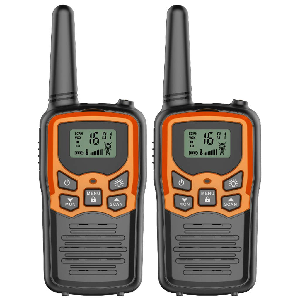 Banbu Kids walkie talkies, 22 Channel 2 Way Radio 3 Mile Long Range Kids Toys Best Gifts for Boy&Girls,Outdoor Adventure Game, 2Packs,Orange