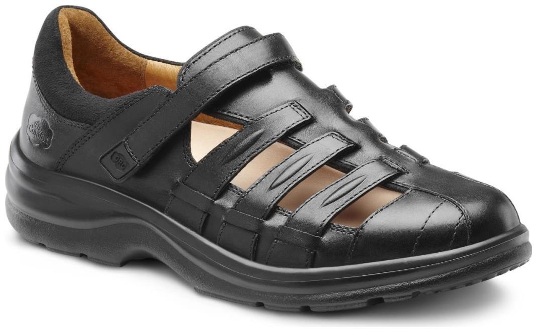 Dr. Comfort Breeze Women's Therapeutic Diabetic Extra Depth Sandal: Black 8.5 Wide (C-D) Velcro