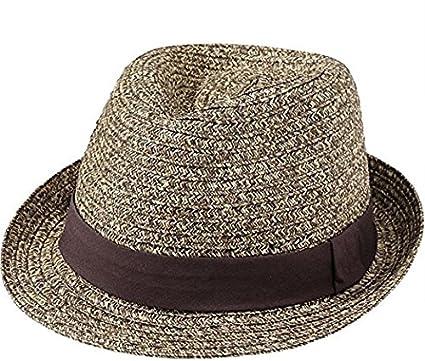 American Rag Mens Multi Weave Straw Fedora Hat