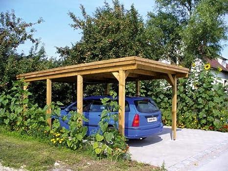 Skan - Aparcamiento de madera (316 x 554 cm): Amazon.es: Jardín
