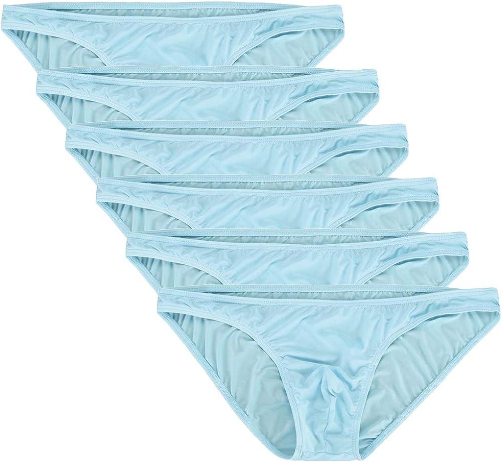 Summer Code Herren Einfache Einfarbige Atmungsaktive Tanga Seidig Slips