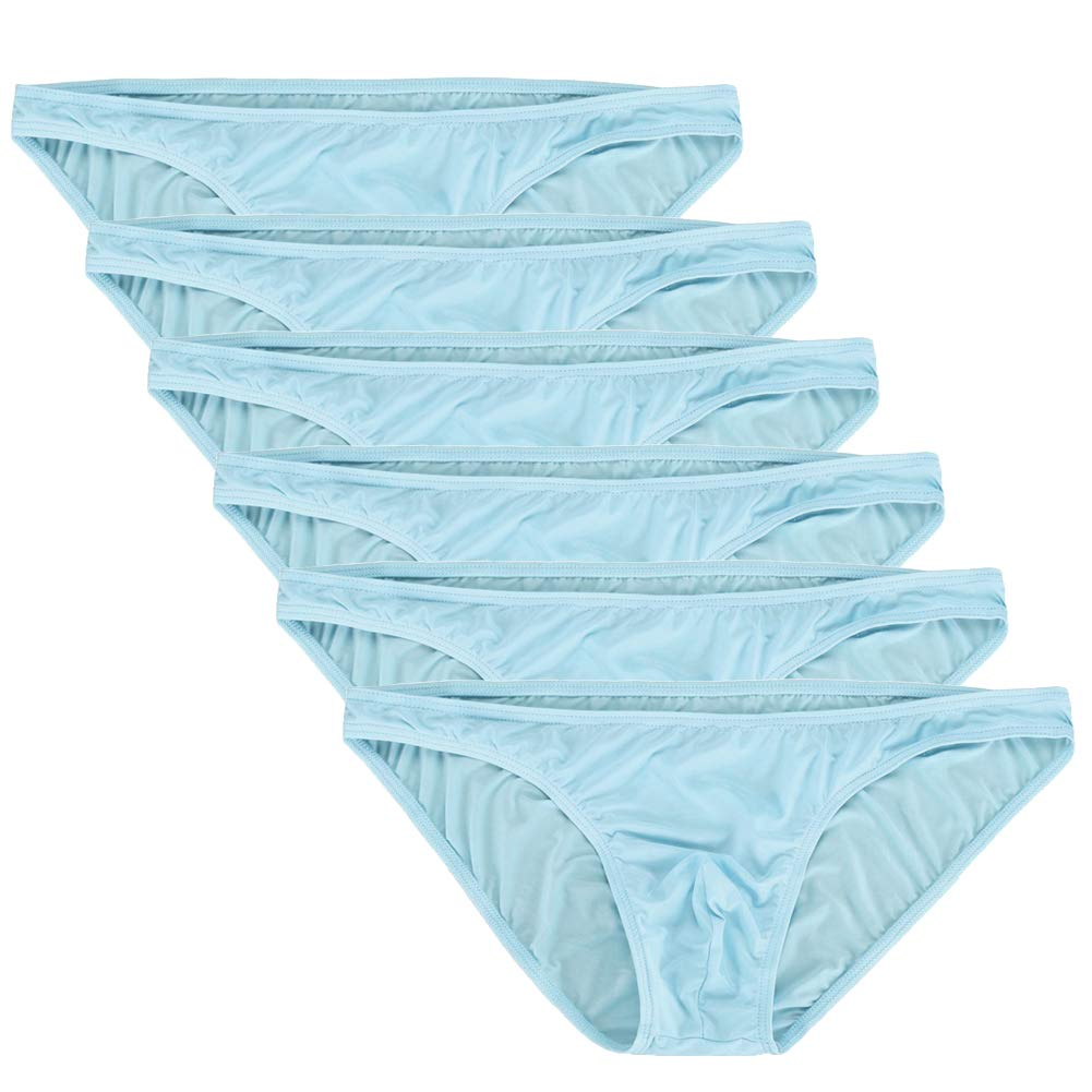Summer Code Mens Basic Bikini Briefs Pack Low Rise Ice Silk Underwear