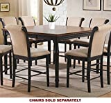 Coaster Cabrillo Counter Height Two Tone Dining Table Black/amaretto Finish Finish