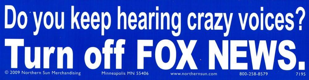 Northern Sun Anti Fox News Bumper Sticker