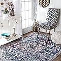 """nuLOOM Raylene Persian Vintage Area Rug, 5' x 7' 5"""", Blue"""
