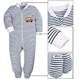 SHENGWEN Baby Boys'2 Pack Footed Sleeper