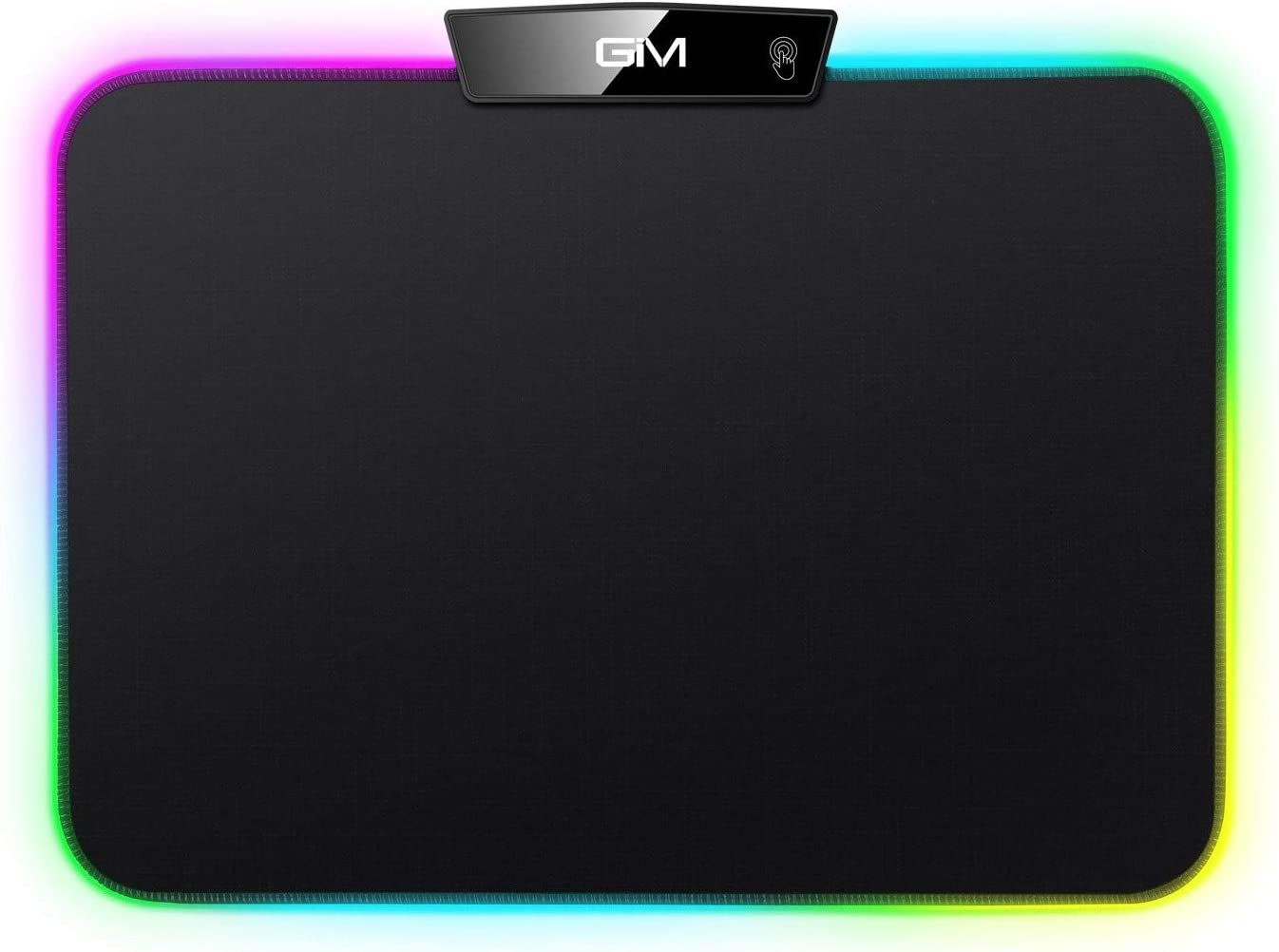 RGB LED Gaming Mouse Pad,GIM LED Mouse Pad Mad with 15 Lighting Modes, Non-Slip Rubber Base USB Computer Mousepad for Gamer,Office and Home(13.8 x 9.8 x 0.2 Inch)