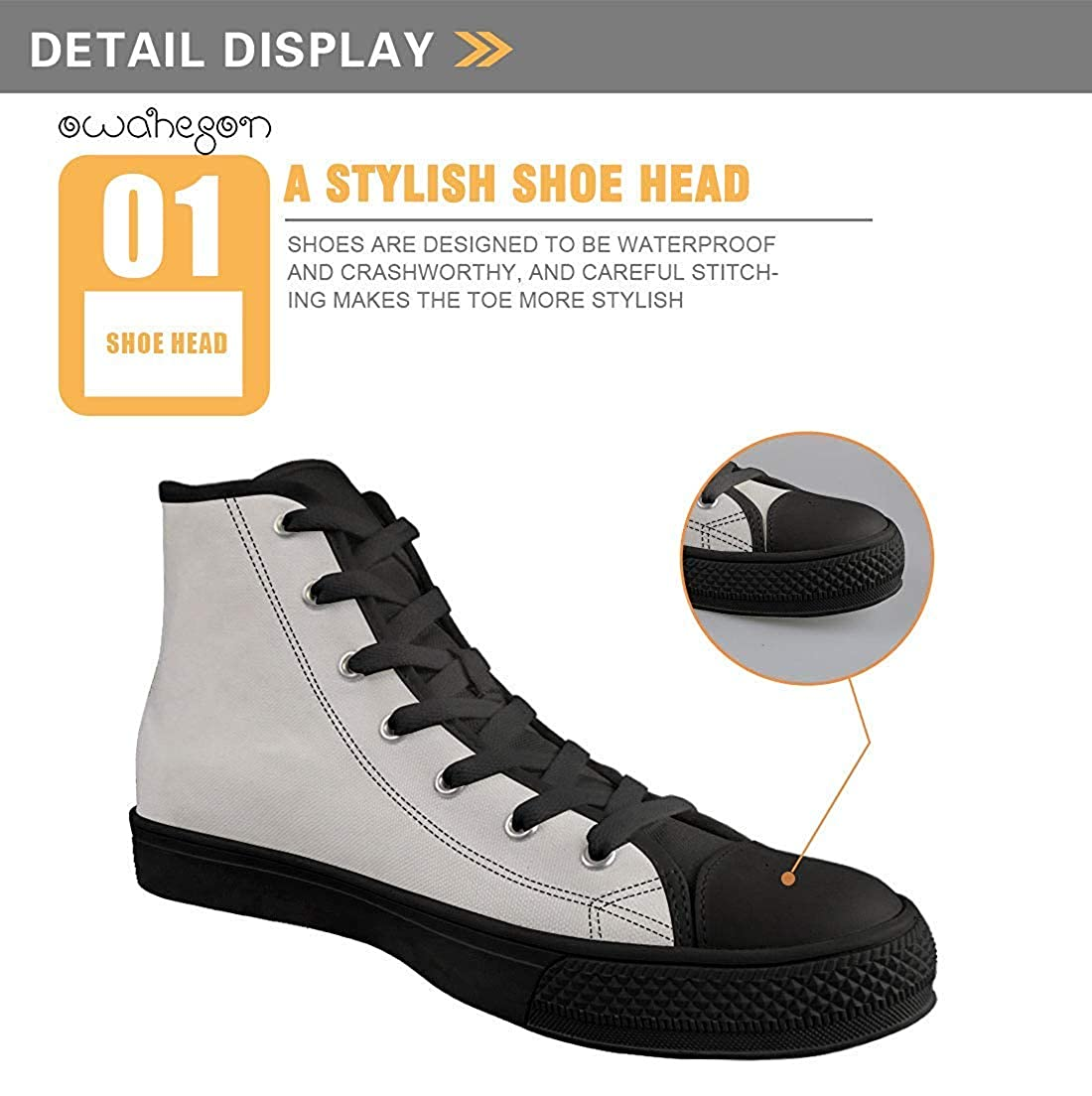 Unisex Casual High-Top Skate Shoes Classic Sneakers Adults Trainers High-Five Aliens UFO Kidnapping Cow