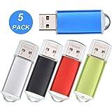 USB Sticks 2GB 5 Stück Bunt Speichersticks - Metall 2 GB USB-Flash-Laufwerk Datenspeicher - Datarm Tragbar USB 2.0 Memory Stick für Werbung mit Mehrfarbig