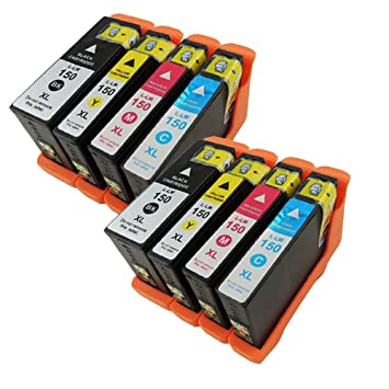 12 COLOR 150XL New High Yield Compatible Ink Cartridge for LEXMARK 150XL CMY