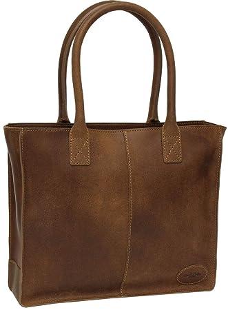 9d87a624c08c62 Gusti Leder Studio Handtasche aus Leder Greta Henkeltasche Damen Braun  2H68-29-2