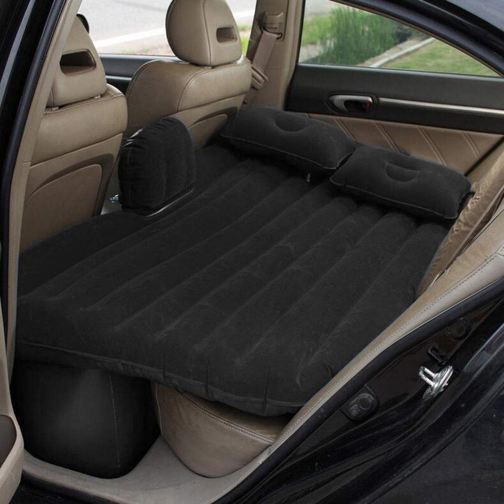Mami-Team Car Air Mattress Bed Inflatable Travel Back Seat Sleep Rest Mat Pillow Pump Lightweight Folded Cushion SUV Weight: 2.6 kg/5.7lbs Inflated Size 53.54 x 33.07 x 17.32 Inches (Black) by Mami-Team (Image #8)