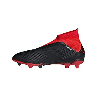 newest 80a9e 4fda9 adidas Predator 18+ FG, Chaussures de Football Mixte Enfant, Noir Cblack Red