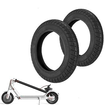 Konesky Neumático para Patinete Electrico, Reforma de DIY 10 Pulgadas Ruedas de Reemplazo Antideslizamiento Scooter Eléctrico Compatible con Xiaomi ...