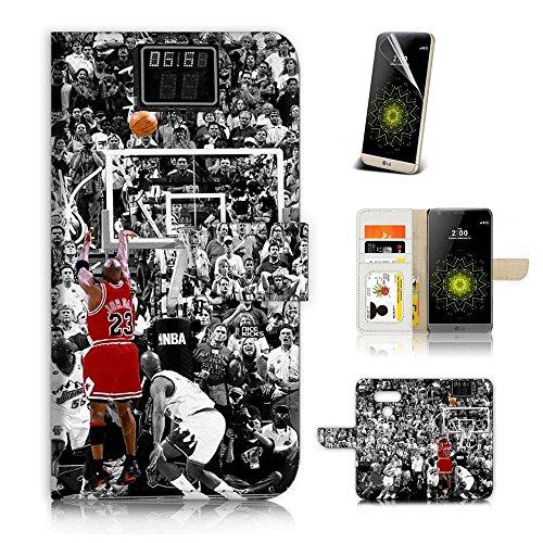 ( For LG V20 ) Flip Wallet Case Cover & Screen Protector Bundle! A20164 Basket Ball
