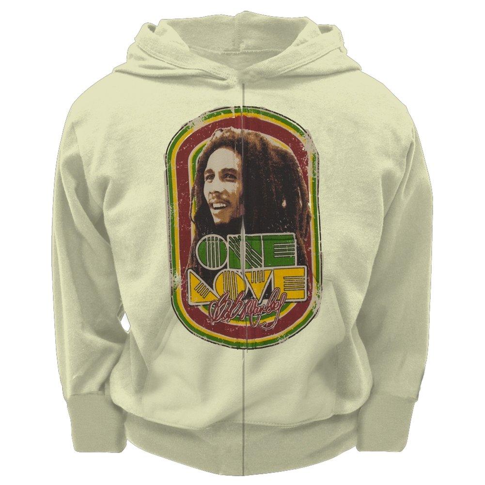 Bob Marley Herren Kapuzenpullover Elfenbein Gebrochenes Weiß