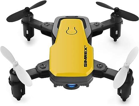 Opinión sobre SIMREX X300C Mini Drone con cámara WiFi HD FPV Plegable RC Quadcopter RTF 4CH 2.4GHz Control Remoto sin Cabeza Control de altitud Super Easy Fly para Entrenamiento Amarillo