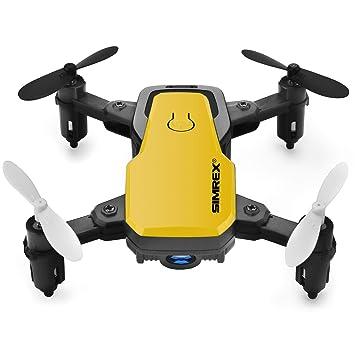 SIMREX X300C Mini Drone con cámara WiFi HD FPV Plegable RC ...
