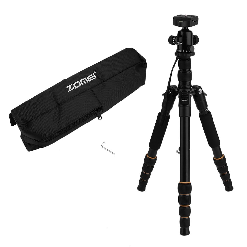 ZOMEI Q666 Professional 65-inch TRIPOD FOR All Canon Cameras And Camcorders Includes Tripod Carrying bag